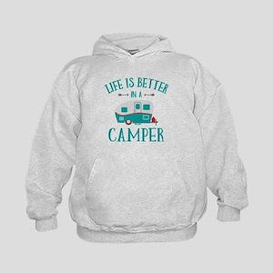 Life's Better Camper Kids Hoodie