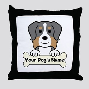 Personalized Australian Shepherd Throw Pillow