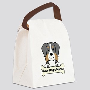 Personalized Australian Shepherd Canvas Lunch Bag