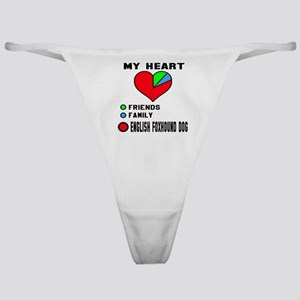 My Heart, Friends, Family, English F Classic Thong