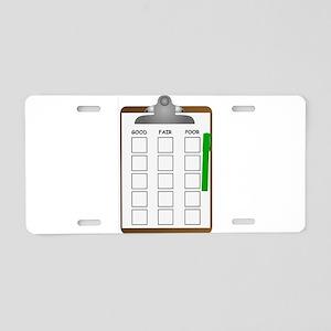 Clipboard Checklist Aluminum License Plate
