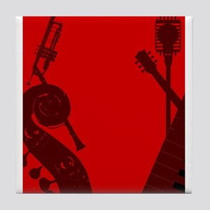 Jazz Club Background Tile Coaster