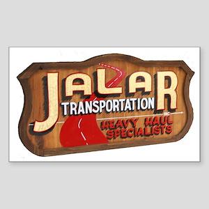 Jalar Transportation Rectangle Sticker
