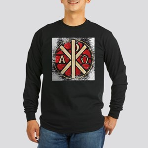Alpha Omega Stained Glass Long Sleeve T-Shirt