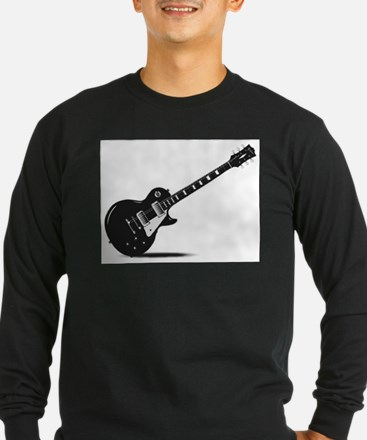 Half Tone Electric Guitar Long Sleeve T-Shirt