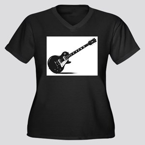 Half Tone Electric Guitar Plus Size T-Shirt