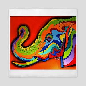 Colorful Elephant Queen Duvet