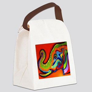 Colorful Elephant Canvas Lunch Bag