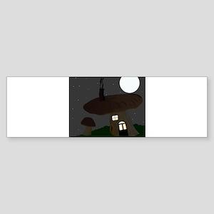 Mushroom House Bumper Sticker