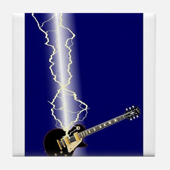 Lightning Guitar Tile Coaster