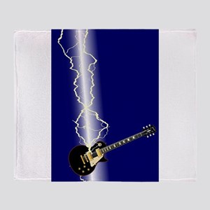Lightning Guitar Throw Blanket