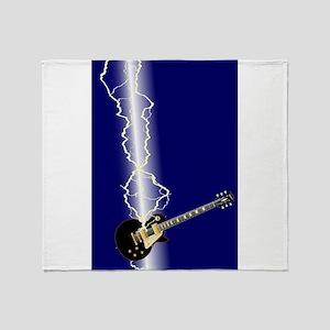 Lightning Guitar Throw Blanket