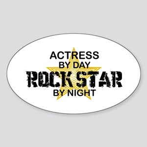 Actress Rock Star Oval Sticker