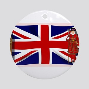 London England Round Ornament