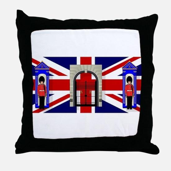 London Icons Throw Pillow