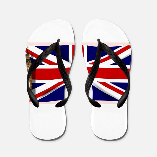 The Union Flag with Big Ben Flip Flops
