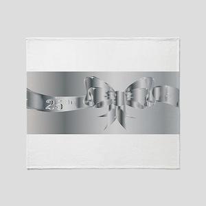 25th Silver Ribbon Throw Blanket