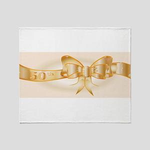 50th Golden Ribbon Throw Blanket