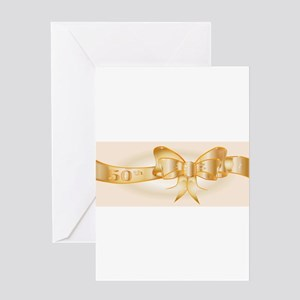 50th Golden Ribbon Greeting Cards