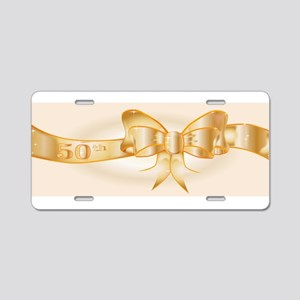 50th Golden Ribbon Aluminum License Plate