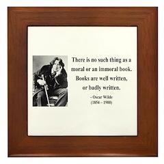 Oscar Wilde 24 Framed Tile