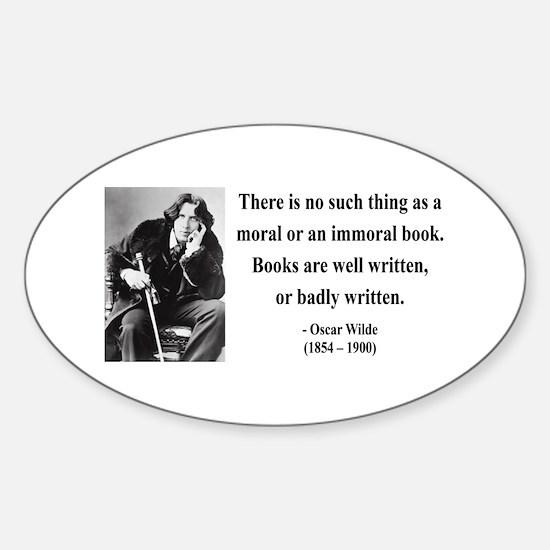 Oscar Wilde 24 Oval Decal