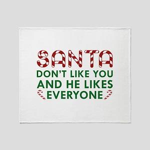 Santa Don't Like You Stadium Blanket