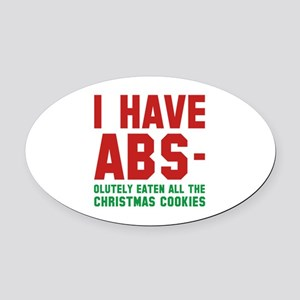 I Have Abs Oval Car Magnet