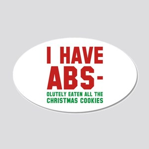 I Have Abs 22x14 Oval Wall Peel