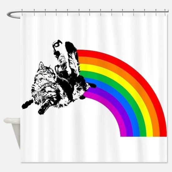 Cute Double rainbows Shower Curtain