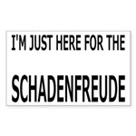 Schadenfreude Funny Sticker (Rectangle)