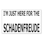 Schadenfreude Funny Sticker (Rectangle 10 pk)
