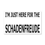 Schadenfreude Funny Car Magnet 20 x 12