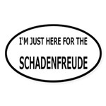 Schadenfreude Funny Sticker (Oval)