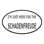 Schadenfreude Funny Sticker (Oval 10 pk)