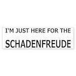Schadenfreude Funny Sticker (Bumper 10 pk)