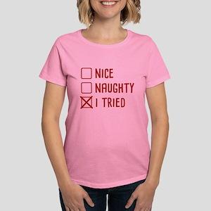 I Tried Women's Dark T-Shirt