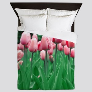 Spring Tulips Queen Duvet