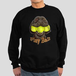 Play Ball, Labrador with Tennis Balls Sweatshirt