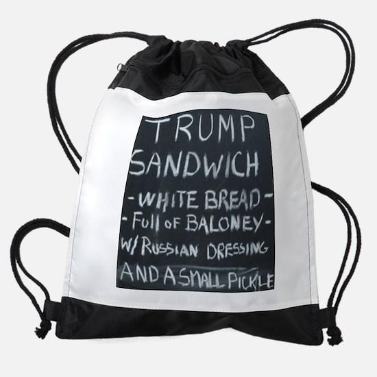 Trump Sandwich Drawstring Bag