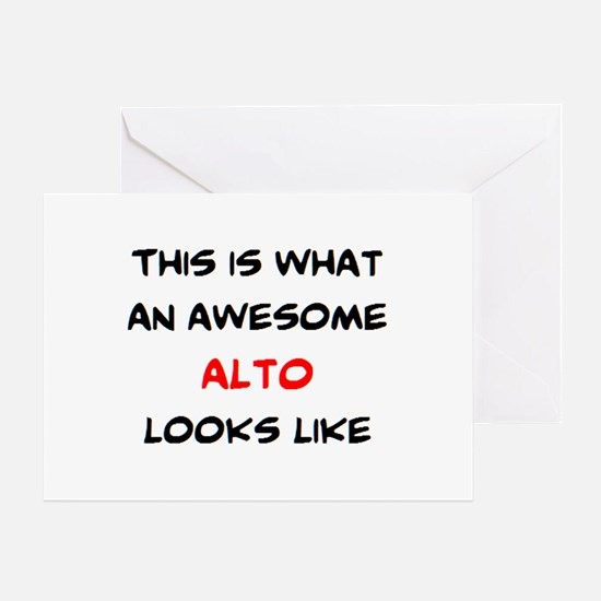 awesome alto Greeting Card