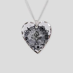Unitarian 6 Necklace Heart Charm