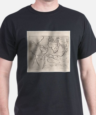 Vintage Map of The World (1607) T-Shirt