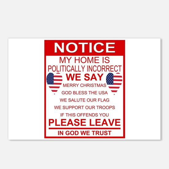 Politically Incorrect Postcards (Package of 8)