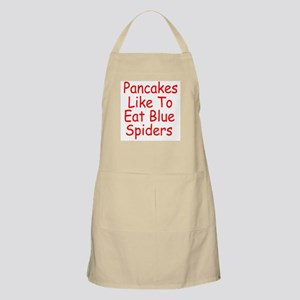 Pancakes Like To Eat Blue Spiders Apron