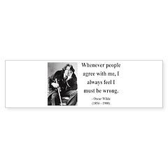 Oscar Wilde 27 Bumper Bumper Sticker