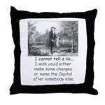 I Cannot Tell a Lie Throw Pillow
