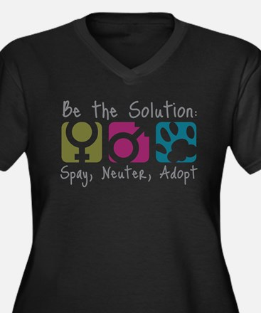 spay-neuter-adopt Plus Size T-Shirt