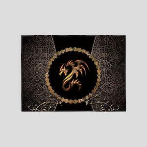 Awesome dragon, tribal 5'x7'Area Rug