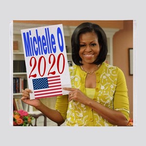 Michelle Obama Throw Blanket